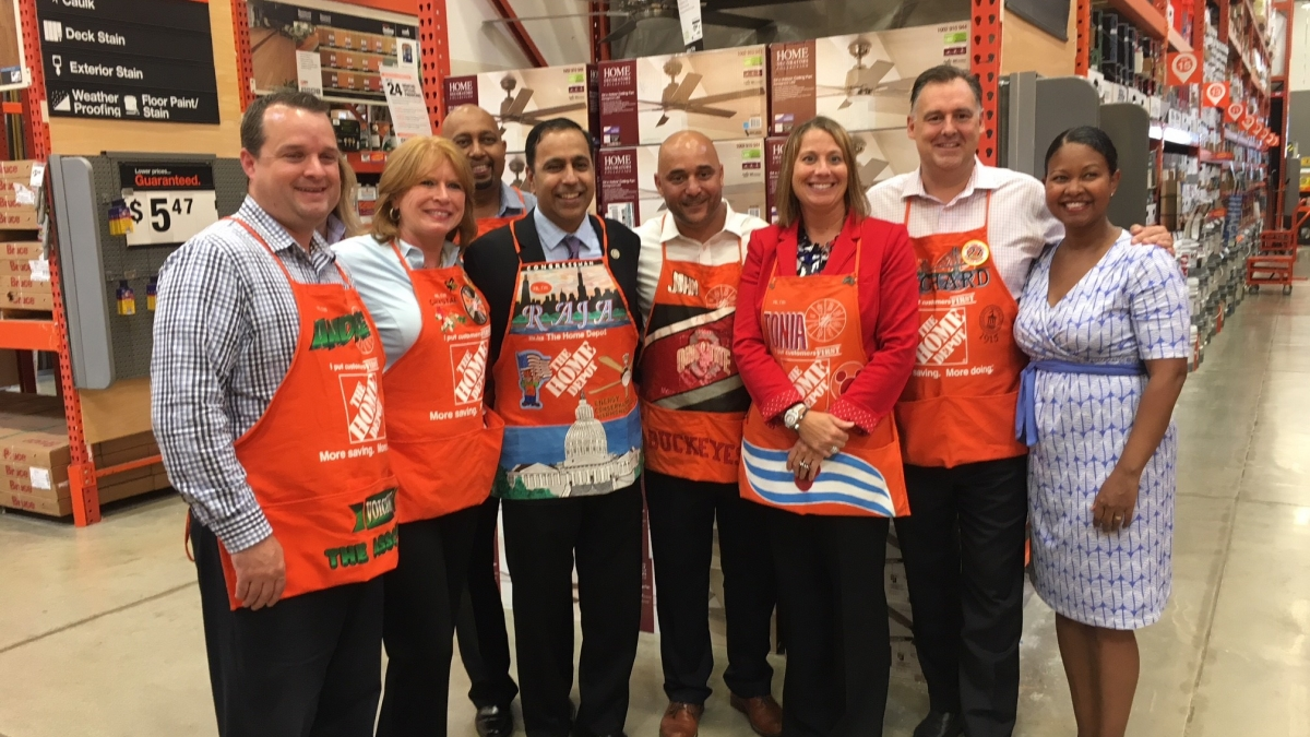 Congressman Krishnamoorthi Joins Leaders from The Home Depot to