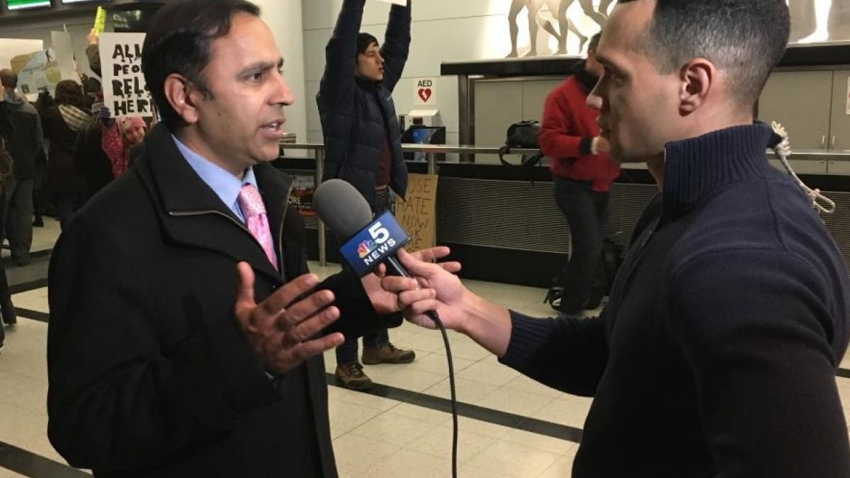 Rep. Krishnamoorthi At O'Hare